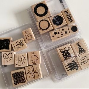 STAMPIN UP Party Circle Design Stamps Birthday